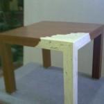 Mesa con pata Mármol