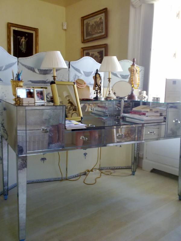 Restauracion Muebles : Tocador cristal entre madera